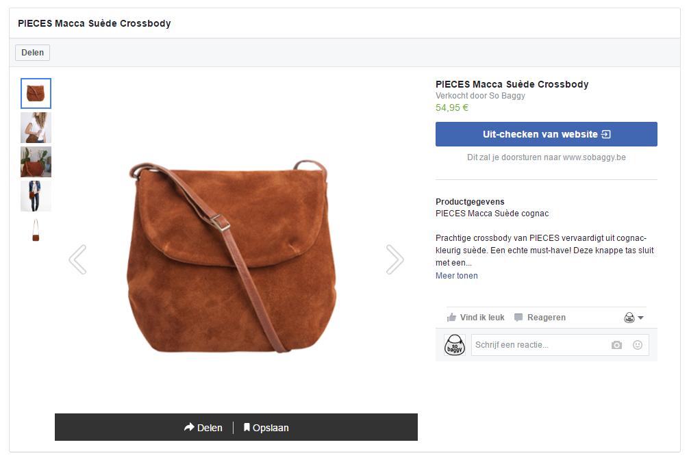 Facebook Producten taggen - Details