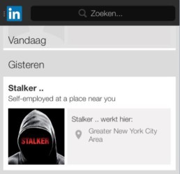 Stalker-promotion-on-LinkedIn