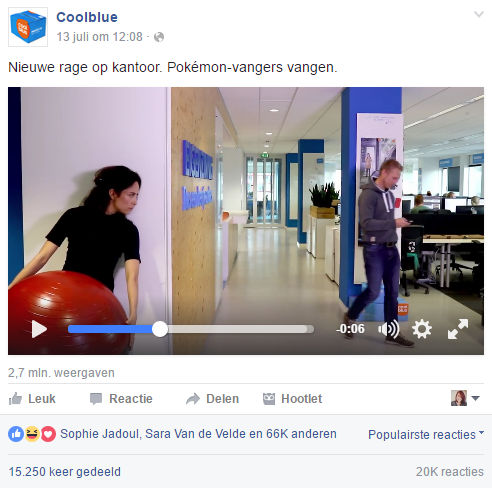 Pokémon Go op sociale media - Coolblue