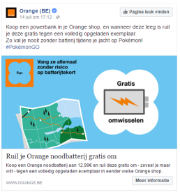 Orange Pokémon Go