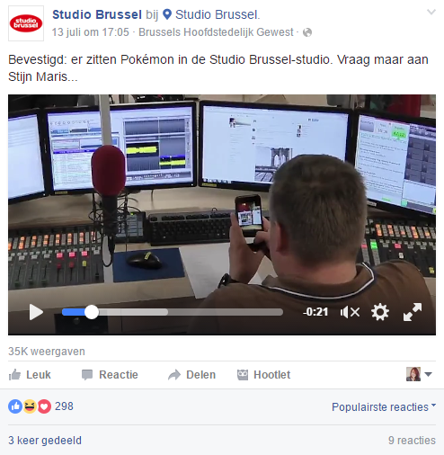 Studio Brussel Pokémon Go