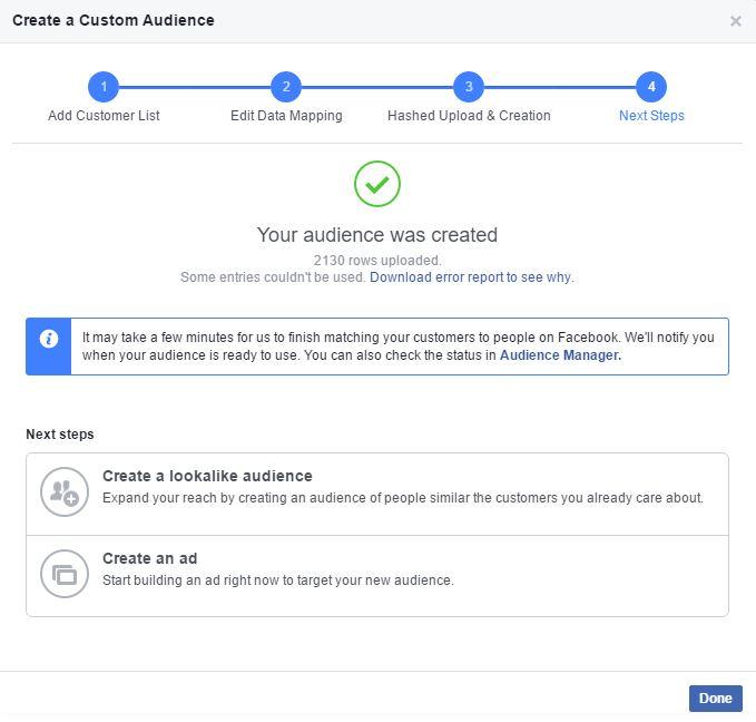 how to add custom audiences