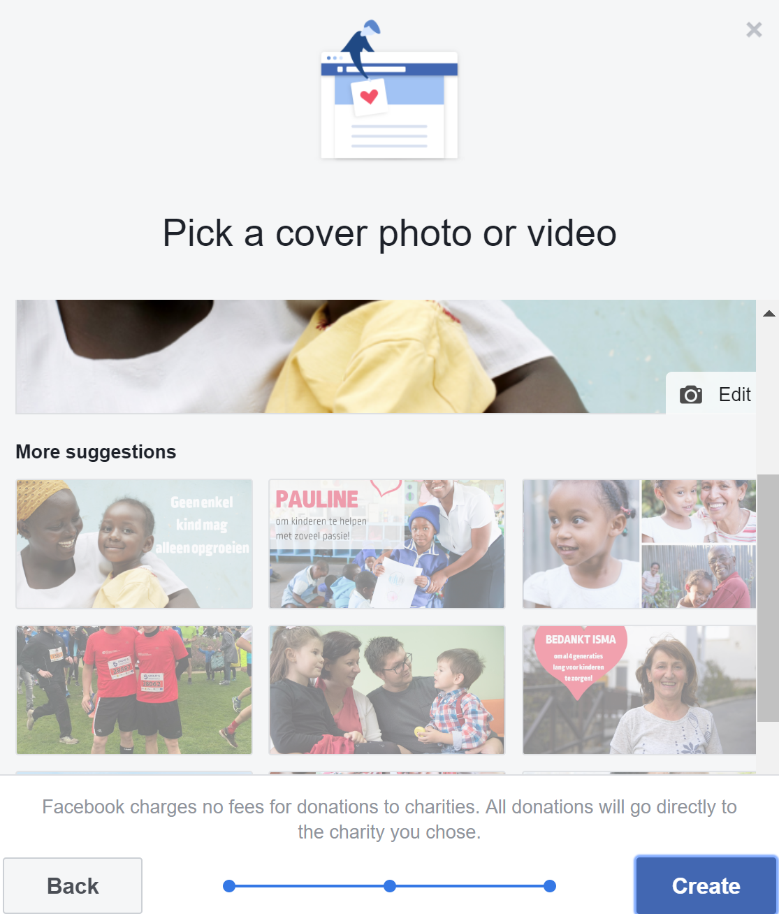 Facebook Fundraiser cover photo
