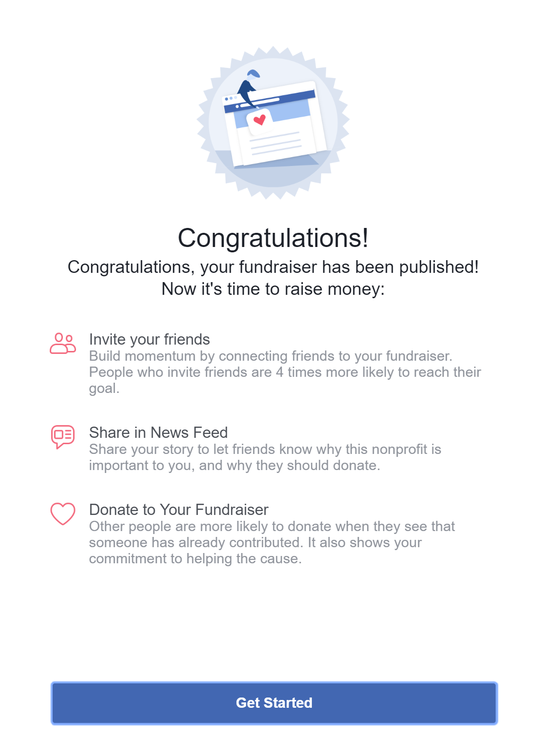 Facebook Fundraiser tips
