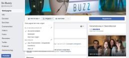 Facebook tijdlijn als eerste weergeven