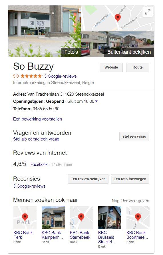 Google bedrijfspagina aanmaken