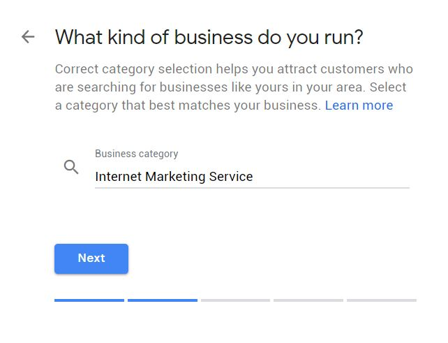 creating a Google Business Page