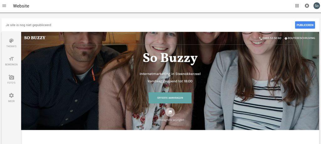 Google bedrijfspagina aanmaken website