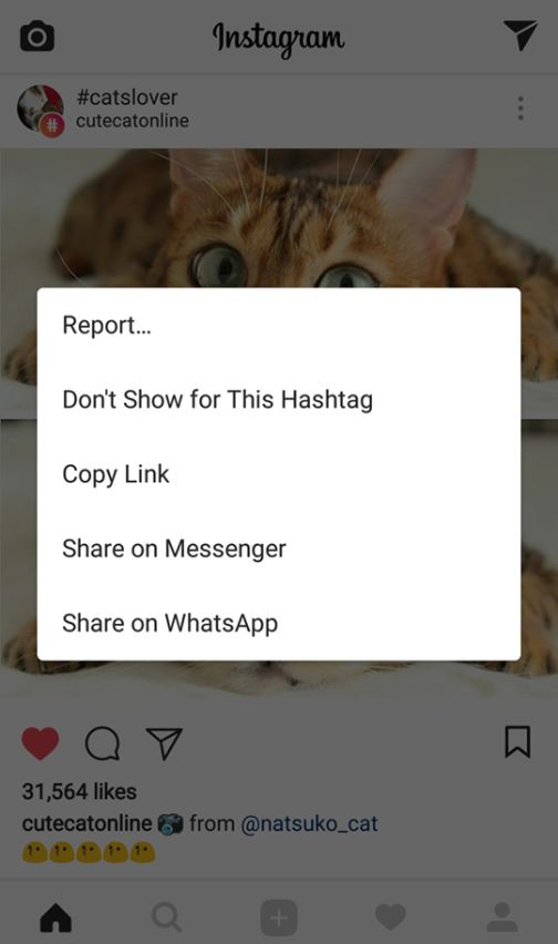 Instagram Hashtags unwanted post