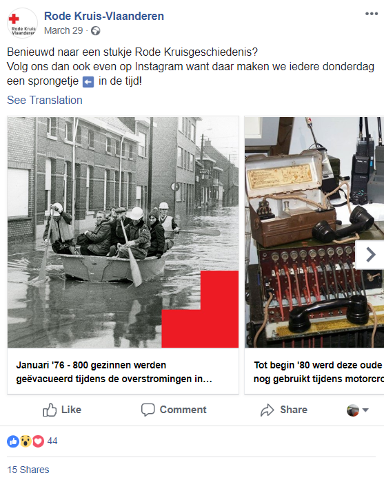 Social media inspiratie facebook post Rode Kruis