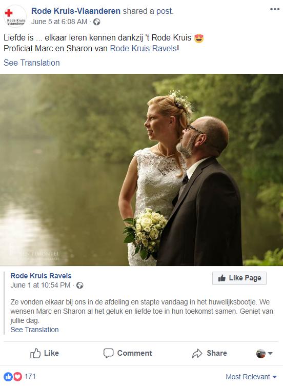 social media inspiratie Rode Kruis Vlaanderen