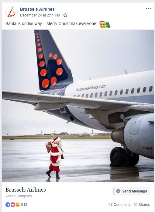 Brussels Airlines Kerst