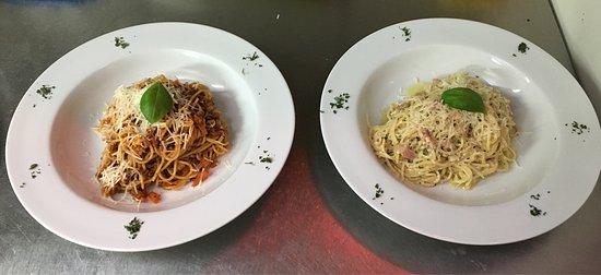 spaghetti carbonara en bolognese - favoriete gerecht