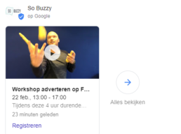 Google Posts event