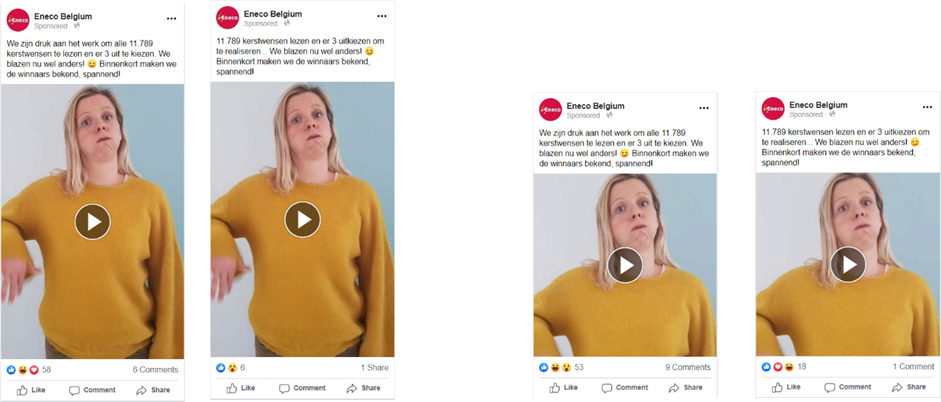 Verticale video vs. vierkante video advertentie 1