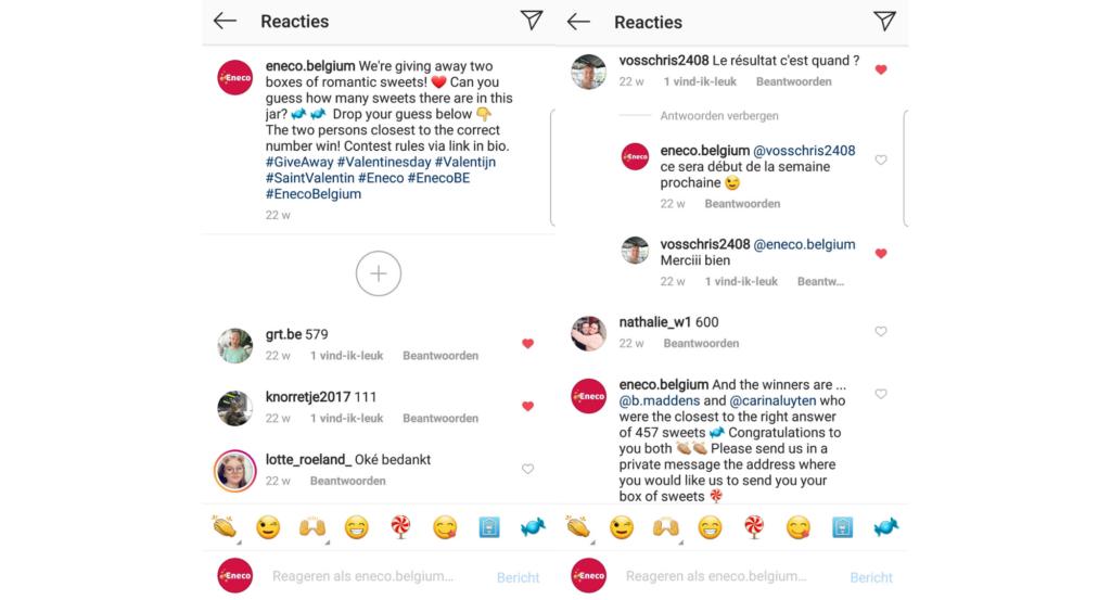 Interactie Instagram