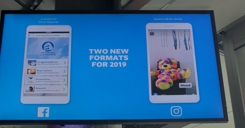 Facebook Accelerate 2019 - new formats