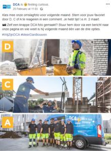 Lok interactie uit op sociale media als bouwbedrijf