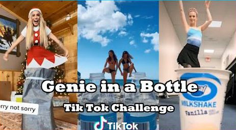 TikTok genie in a bottle challenge