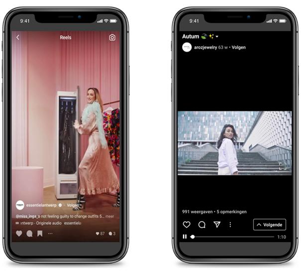Instagram Reels en TV